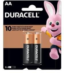 Pilha Alcalina Pequena AA Duracell - 2 Un