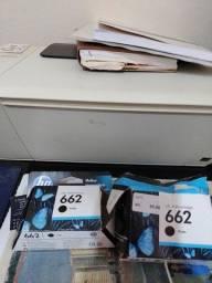Cartucho para impressora HP Deskjet , preço 50 reais os dois.