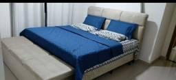 Colchão magnético +cama + cabeceira + recamie