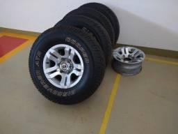 Jogo rodas e pneus Troller (leia descrição)