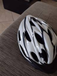 Título do anúncio: Capacete de Ciclista Branco Adulto