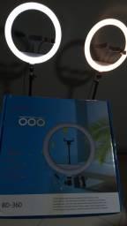 Título do anúncio: Ring light 14 polegadas profissional, 3 suporte pra celular