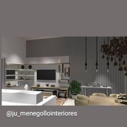 Projeto em 3D e  designer de interiores