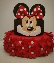 Título do anúncio: Maquete bolo Minnie Vermelha