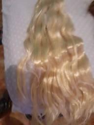 peruca sintética misturada cabebelo bem cuidado.