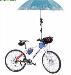 Suporte de guarda chuva para bicicleta