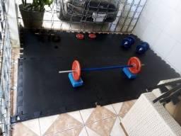 Peso anilha halteres academia treino