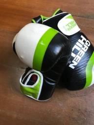 Luvas de boxe/muay thai e protetor de cabeça/capacete Green Hill