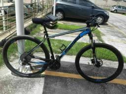 Bike aro 29 freio hidráulico 27v suspensão com trava