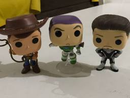 Título do anúncio: Vendo Funko Pops - Woody, Buzz Lightyear e Tony Stark