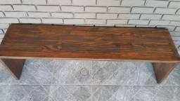 2 bancos madeira com almofadas