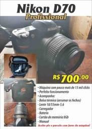 Câmera profissional Nikon D70 - completa!
