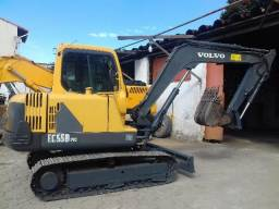 Mini Escavadeira Retro Volvo Cat Ec55 hiundai R80 580n 580m 2015
