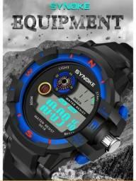 Relógio masculino digital esportes ao ar livre aprova da'água (leia descrição)
