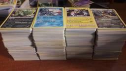 Grande lote de cartas Pokémon 1000 CARTAS