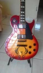 Guitarra Les Paul SX /Pedaleira zoom g21U e Acessórios