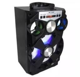 Caixa Som Bluetooth Ms-168/a28 Portatil Fm Sd Potente