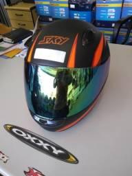 Capacete motosky raci 2 viseiras com entrega em todo Rio!
