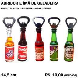 Título do anúncio: Abridor de Garrafa e Ímã de Geladeira Fanta Coca-Cola Budweiser Sprite Prague