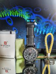 Relógio  Naviforce  Original Preto/Branco