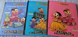 03 livros Turma da Mônica coleção Princesas e Princesas