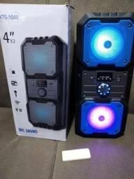 Caixa de som Big Sound bluetooh e karaoke