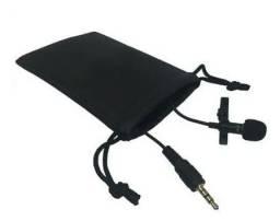 Microfone de Lapela para gravação de video PC e Celulares<br>