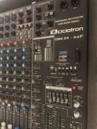 Mesa áudio 24 canais