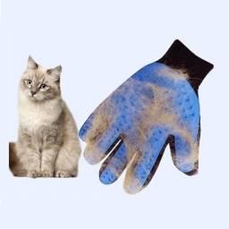 Luva para pentear cães e gatos