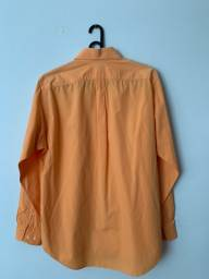 Camisa manga longa cor laranja