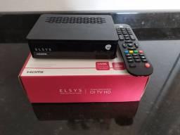 Receptor Elsys Oi TV livre + Antena