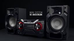 Mini System Panasonic SC-AKX220LBK / Bluetooth / Usb / Mp3 / 450w / Rms - Novo