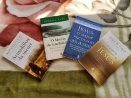 Combo 4 livros de Augusto Cury e Mark E. Baker.