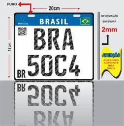 Placa Decorativa 17x20cm Mercosul PVC