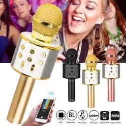Microfone Karaokê Com Efeito de Voz - Fazemos Entregas!