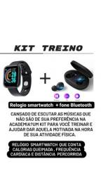 Título do anúncio: Relógio smartwatch  + fone de ouvido bluetooth