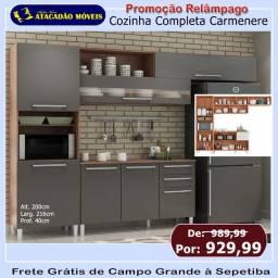 Título do anúncio:  Armário de cozinha preto