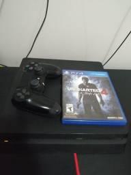 Título do anúncio: PS4 slim 500 gb + 1 controle + 1 jogo