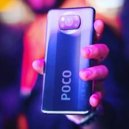 Xiaomi Poco X3 10X S/Juros 64GB E 128GB 6 RAM Nfc Loja Fisica + 1 Ano de Garantia + Brinde