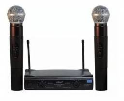 Microfone profissional Sem Fio Duplo Uhf  L110/220 Vts