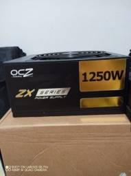 Fonte ocz ZX Series 1250W 80plus Gold full Modular