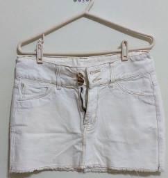 mini saia jeans osmoze. tamanho 36.