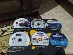 Coleção de jogos PS2 originais