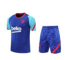 Conjunto Time Camisa e shorts Barcelona G