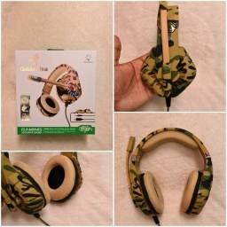 Título do anúncio: Headset Gamer Gt84 Goldenultra Camuflado - Ps4/Xbox/Pc