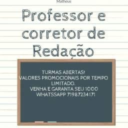 Aulas particulares de Redação - Professor Matheus