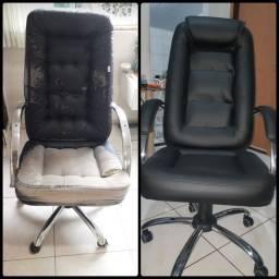 Reformamos cadeiras de escritório