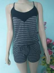 Conjunto em Viscose novo blusa + short