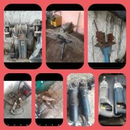 Máquinas e ferramentas para serralheiros,  serrarias, serralharia e oficinas.
