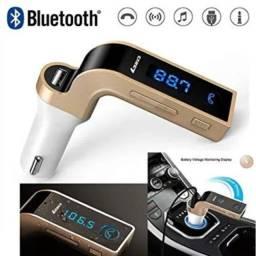 Transmissor Fm Receptor Bluetooth para Som Automotivo C/ USB